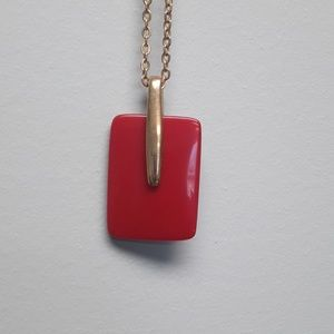 Vintage Trifari red lucite necklace